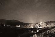Catherine White Prints - Forest of Stars Above The Chapel on the Rock Sepia Print by James Bo Insogna
