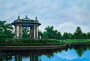 Bandstand Paintings - Forest Park Muny Bandstand II by Michael Frank