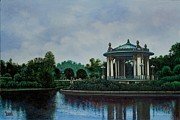 Bandstand Paintings - Forest Park Muny Bandstand by Michael Frank