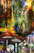 Fungi Digital Art - Forest Peace by Tony  Green