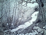 Preetha Jayachandran - Forest- Pen and Ink