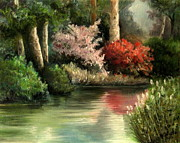 Blossoming Originals - Forest Pond by Mikhail Savchenko
