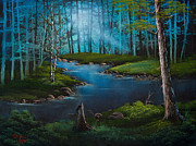 Forest River Print by C Steele