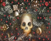 Raining Mixed Media - Forest skull Pop Art by Pepita Selles