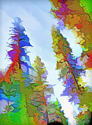 Spattered Prints - Forest Splash 2 Print by Steve Ohlsen