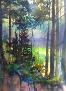 Forest Trail Algonquin Park   Print by Madelaine Alter