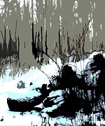 Snow Artwork Mixed Media Prints - Forest Under Snow Print by Patrick J Murphy