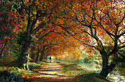 Autumn Digital Art Metal Prints - Forever Autumn Metal Print by Dominic Davison