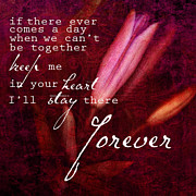 Valentines Day Posters - Forever Poster by Bonnie Bruno