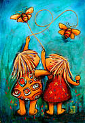 Girls Mixed Media - Forever Friends by Karin Taylor