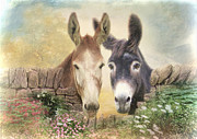Donkey Mixed Media Prints - Forever Friends Print by Trudi Simmonds