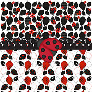 Shower Digital Art - Forever Ladybugs by Debra  Miller
