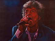 Concert Painting Originals - Forever Mick by Debbie Patrick