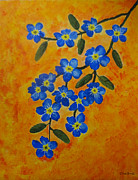 Forget Me Not Paintings - Forget me not by Chaitrali J