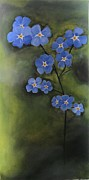 Forget Me Not Paintings - Forget-Me-Not by Deborah Schuster