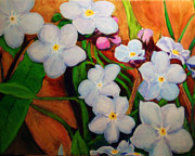 Forget Me Not Paintings - Forget Me Nots by Charlie Harris