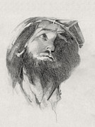 Jesus Drawings - Forgive Them by Michele Engling