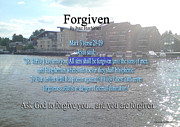 Forgiven Prints - Forgiven Print by Bible Verse Pictures