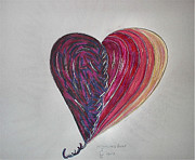 Forgiveness Drawings - Forgiveness Heart by Myrrh De Marmion