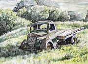 Farmer Mixed Media Prints - Forgotten Print by Aaron Spong