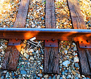 High Heels Art Art - Forgotten - Abandoned Shoe On RailRoad Tracks by Sharon Cummings