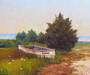 Chatham Painting Originals - Forgotten Dory by Dianne Panarelli Miller