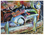 But Painting Originals - Forgotten Forty-Nine Ford by Rick Mock
