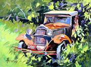 Ford Model T Car Painting Posters - Forgotten Good Times Poster by Rae Andrews