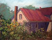 Old House Pastels Prints - Forgotten Print by Linda Preece