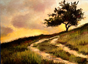 Lone Tree Pastels Prints - Forgotten Road Print by Susan Jenkins