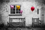 Red Balloons Prints - Forgotten Romance Print by Semmick Photo