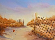 Sand Dunes Paintings - Forgotten Toy in the Sand by Rich Kuhn