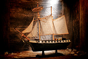 Wooden Ship Metal Prints - Forgotten Toy Metal Print by Olivier Le Queinec