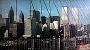Twin Towers Trade Center Digital Art Metal Prints - Forgotten View Metal Print by George Pedro