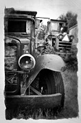 Rusty Truck Prints - Forgotten Workers Print by Perry Webster