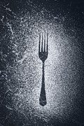 Kitchen Utensils Posters - Fork Poster by Christopher and Amanda Elwell