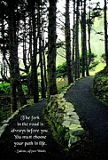 Cheer On Photo Posters - Fork in the Road Poster by Mike Flynn
