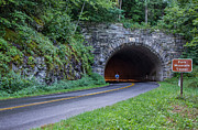 Nc Framed Prints - Fork Mountain Tunnel Bicyclist Framed Print by John Haldane