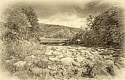 Steve Harrington - Forksville Covered Bridge 2 - antique sepia