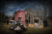 Randall Nyhof - Forlorn Abandoned Rundown Farm Homestead with Rusty Vintage Auto