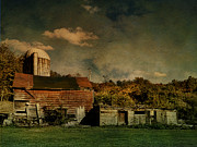 Barns Digital Art - Forlorn Farm by Pamela Phelps