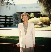 Betty Photo Framed Prints - Former First Lady Betty Ford Posing Framed Print by Everett