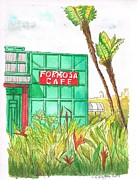 Outdoor Cafe Paintings - Formosa-Cafe-Hollywood-CA by Carlos G Groppa