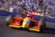 Indy Car Prints - Formula Racing Car At Speed Print by Don Hammond