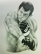 Mixed Martial Arts Drawings - Forrest Griffin by Jesse Samper