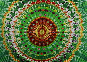Tie Dye Tapestries - Textiles Metal Prints - Forrest Sunrise Metal Print by Carl McClellan
