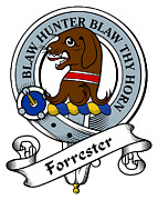 Genealogy Prints - Forrester Clan Badge Print by Heraldry