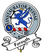 Genealogy Prints - Forsyth Clan Badge Print by Heraldry