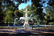Forsyth Park Photos - Forsyth Park Fountain in Springtime by Carol Groenen