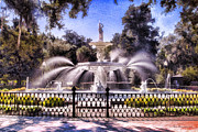 Linda  Blair - Forsyth Park Fountain